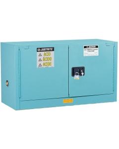 ChemCor® Lined Piggyback Corrosives/Acid Safety Cabinet, 17 Gallon, M/C Doors, Blue
