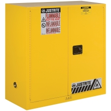 Sure-Grip® EX Flammable Safety Cabinet, 30 Gallon, M/C Doors, Yellow