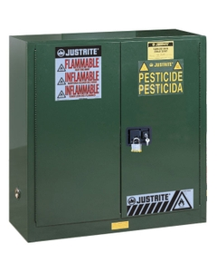 Sure-Grip® EX Pesticides Safety Cabinet, 30 Gallon, M/C Doors, Green