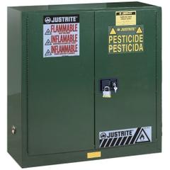 Sure-Grip® EX Pesticides Safety Cabinet, 30 Gallon, M/C Doors, Green (Intl)
