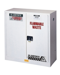 Sure-Grip® EX Flammable Waste Safety Cabinet, 30 Gallon, M/C Doors, White
