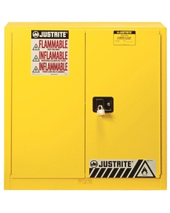 Sure-Grip® EX Combustibles Paint & Ink Safety Cabinet, 40 Gallon, S/C Doors, Yellow (Intl)