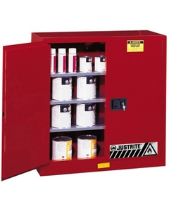 Sure-Grip® EX Combustibles Paint & Ink Safety Cabinet, 40 Gallon, M/C Doors, Red