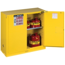 Sure-Grip® EX Flammable Safety Cabinet, 30 Gallon, S/C Doors, Yellow
