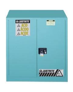 Sure-Grip® EX Corrosives/Acid Safety Cabinet, 30 Gallon, S/C Doors, Blue (Intl)