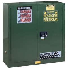 Sure-Grip® EX Pesticides Safety Cabinet, 30 Gallon, S/C Doors, Green