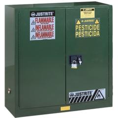 Sure-Grip® EX Pesticides Safety Cabinet, 30 Gallon, S/C Doors, Green (Intl)