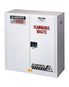 Sure-Grip® EX Flammable Waste Safety Cabinet, 30 Gallon, S/C Doors, White