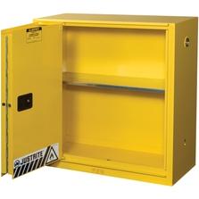Sure-Grip® EX Flammable Safety Cabinet, 30 Gallon, Bi-Fold S/C Doors, Yellow