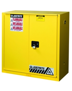 Sure-Grip® EX Combustibles Paint & Ink Safety Cabinet, 40 Gallon, Bi-Fold Door, Yellow