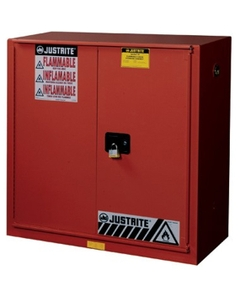 Sure-Grip® EX Combustibles Paint & Ink Safety Cabinet, 40 Gallon, Bi-Fold Door, Red