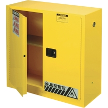 """Sure-Grip® EX Flammable Safety Cabinet, 30 Gallon, M/C Doors, Yellow (35"""" H)"""