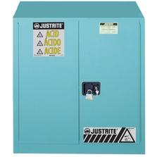 "Sure-Grip® EX Corrosives/Acid Safety Cabinet, 30 Gallon, S/C Doors, Blue (35"" H)"