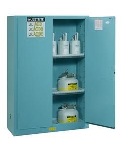 Sure-Grip® EX Corrosives/Acid Safety Cabinet, 30 Gallon, Bi-Fold S/C Doors, Blue
