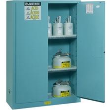 Sure-Grip® EX Corrosives/Acid Safety Cabinet, 45 Gallon, M/C Doors, Blue