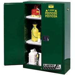 Sure-Grip® EX Pesticides Safety Cabinet, 45 Gallon, M/C Doors, Green