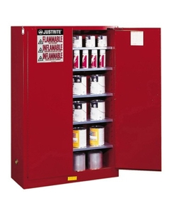 Sure-Grip® EX Combustibles Paint & Ink Safety Cabinet, 60 Gallon, M/C Doors, Red