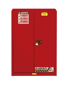 Sure-Grip® EX Combustibles Paint & Ink Safety Cabinet, 60 Gallon, S/C Doors, Red