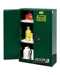Sure-Grip® EX Pesticides Safety Cabinet, 45 Gallon, S/C Doors, Green