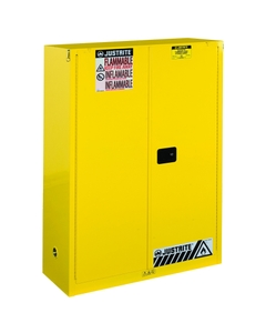 Sure-Grip® EX Combustibles Paint & Ink Safety Cabinet, 60 Gallon, S/C Doors, Yellow