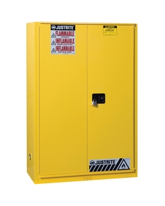 Sure-Grip® EX Flammable Safety Cabinet, 45 Gallon, Bi-Fold S/C Doors, Yellow (Intl)