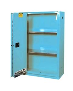 Sure-Grip® EX Corrosives/Acid Safety Cabinet, 60 Gallon, Bi-Fold S/C Doors, Blue