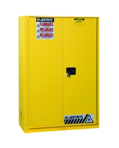 Sure-Grip® EX Combustibles Paint & Ink Safety Cabinet, 60 Gallon, Bi-Fold Door, Yellow