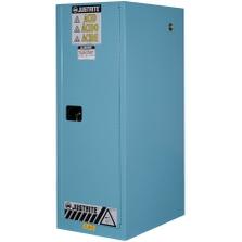 Sure-Grip® EX Deep Slimline Corrosives/Acid Safety Cabinet, 54 Gallon, M/C Doors, Blue