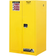 Sure-Grip® EX Flammable Safety Cabinet, 60 Gallon, M/C Doors, Yellow