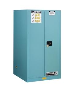 Sure-GriSure-Grip® EX Corrosives/Acid Safety Cabinet, 60 Gallon, S/C Doors, Blue