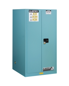 Sure-Grip® EX Corrosives/Acid Safety Cabinet, 60 Gallon, S/C Doors, Blue (Intl)