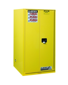 Sure-Grip® EX Combustibles Paint & Ink Safety Cabinet, 96 Gallon, S/C Doors, Yellow