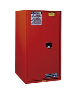 Sure-Grip® EX Combustibles Paint & Ink Safety Cabinet, 96 Gallon, S/C Doors, Red