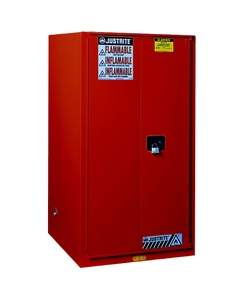 Sure-Grip® EX Flammable Safety Cabinet, 60 Gallon, S/C Doors, Red