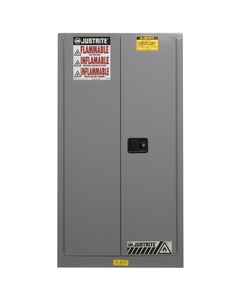 Sure-Grip® EX Flammable Safety Cabinet, 60 Gallon, S/C Doors, Gray