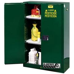 Sure-Grip® EX Pesticides Safety Cabinet, 90 Gallon, M/C Doors, Green