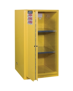 Sure-Grip® EX Flammable Safety Cabinet, 60 Gallon, Bi-Fold S/C Doors, Yellow
