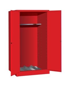 Sure-Grip® EX Vertical Drum Safety Cabinet, M/C Doors, Red