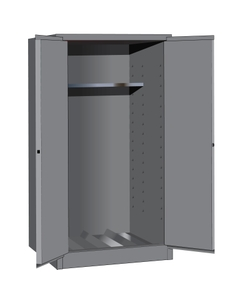 Sure-Grip® EX Vertical Drum Safety Cabinet, M/C Doors, Gray