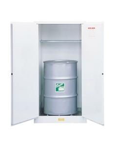 Sure-Grip® EX Flammable Waste Vertical Drum Safety Cabinet, M/C Doors, White