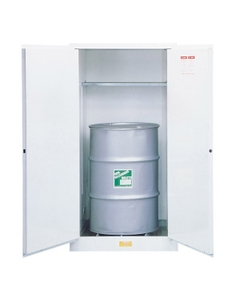 Sure-Grip® EX Flammable Waste Vertical Drum Safety Cabinet, S/C Doors, White