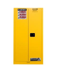 Sure-Grip® EX Vertical Drum Safety Cabinet, S/C Doors, Yellow