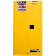 Sure-Grip® EX Vertical Drum Safety Cabinet, S/C Doors, Yellow (Intl)