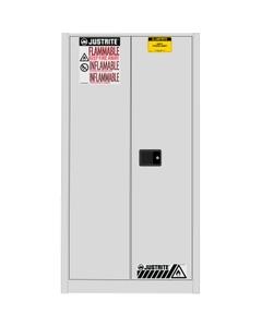 Sure-Grip® EX Vertical Drum Safety Cabinet, S/C Doors, White