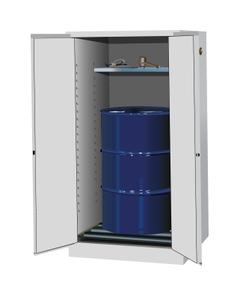 Sure-Grip® EX Vertical Drum Safety Cabinet w/Rollers, M/C Doors, White