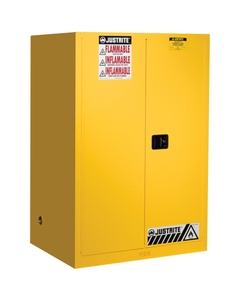 Sure-Grip® EX Flammable Safety Cabinet, 90 Gallon, M/C Doors, Yellow