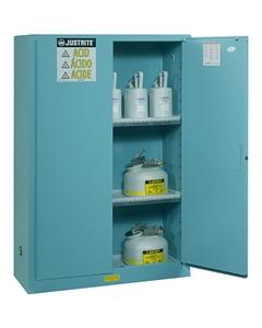 Sure-Grip® EX Corrosives/Acid Safety Cabinet, 90 Gallon, M/C Doors, Blue
