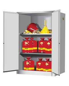 Sure-Grip® EX Flammable Safety Cabinet, 90 Gallon, M/C Doors, White