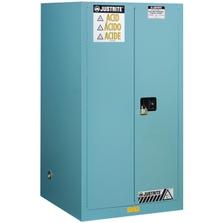 Sure-Grip® EX Corrosives/Acid Safety Cabinet, 90 Gallon, S/C Doors, Blue