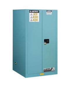 Sure-Grip® EX Corrosives/Acid Safety Cabinet, 90 Gallon, Bi-Fold S/C Doors, Blue